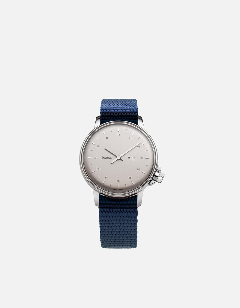 Miansai - M12 Swiss Silver Navy Blue Nylon