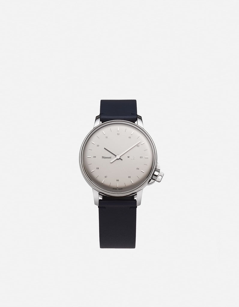 Miansai - M12 Swiss Silver Navy Blue Leather