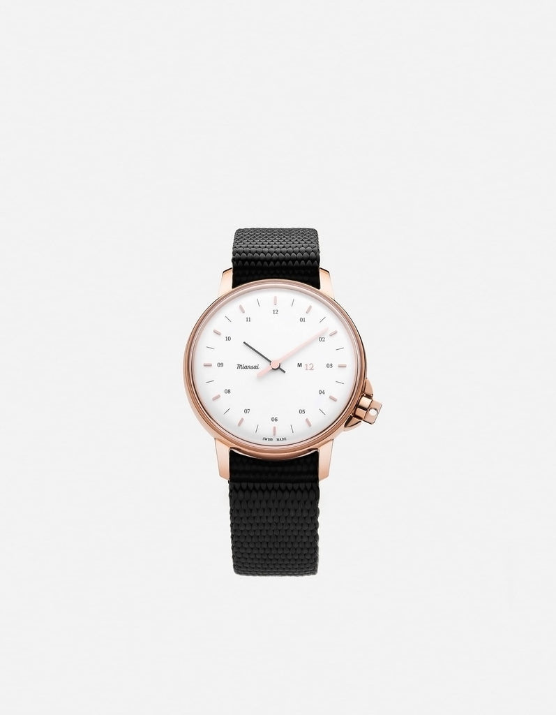 Miansai - M12 Swiss Rose|White Black Nylon