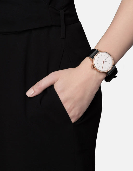 M12 Swiss Watch Rose|White on Nylon, Black | Miansai