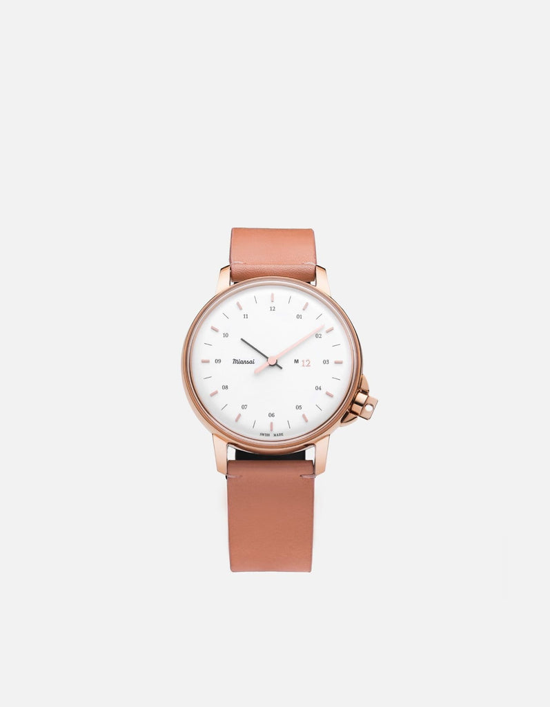 Miansai - M12 Swiss Rose|White Salmon Leather