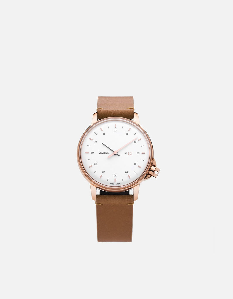 Miansai - M12 Swiss Rose|White Tan Leather