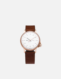 Miansai - M12 Swiss Rose|White Vintage Cognac Leather