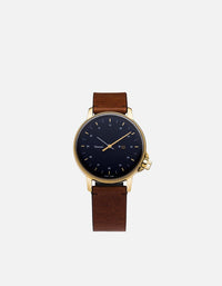 Miansai - M12 Swiss Gold|Navy Vintage Cognac Leather