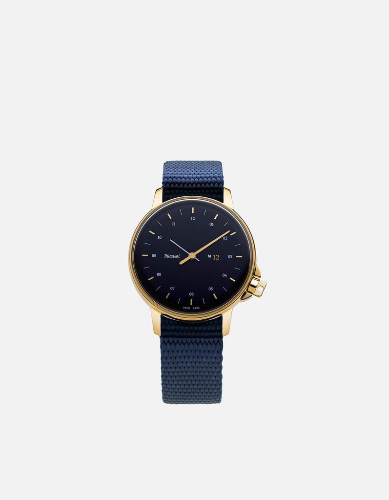 Miansai - M12 Swiss Gold|Navy Navy Blue Nylon