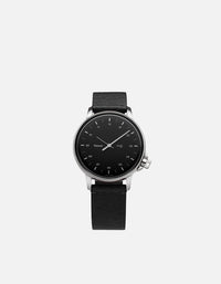 Miansai - M12 Stainless Steel|Black on Asphalt Leather