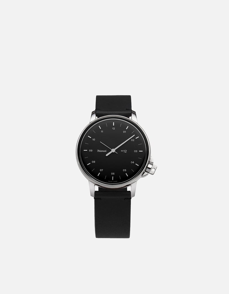 Miansai - M12 Stainless Steel|Black on Black Leather