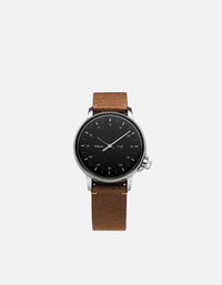 Miansai - M12 Stainless|Black on Two-Piece Leather Strap, Sahara