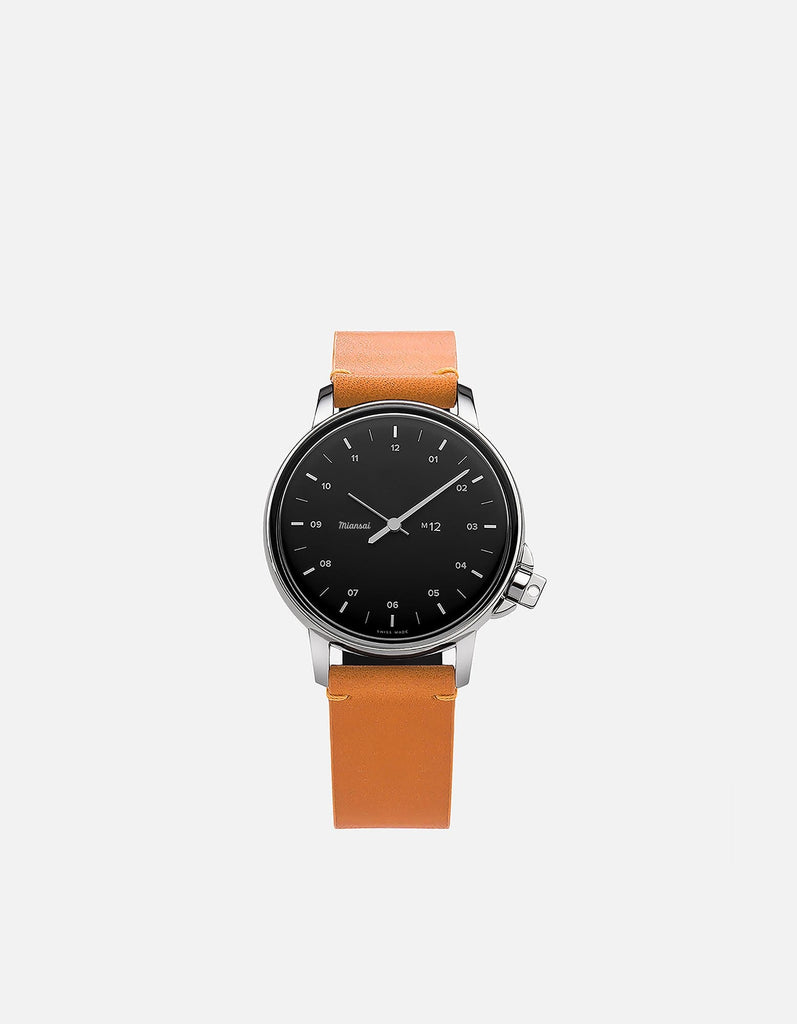 Miansai - M12 Stainless Steel|Black on Tan Leather