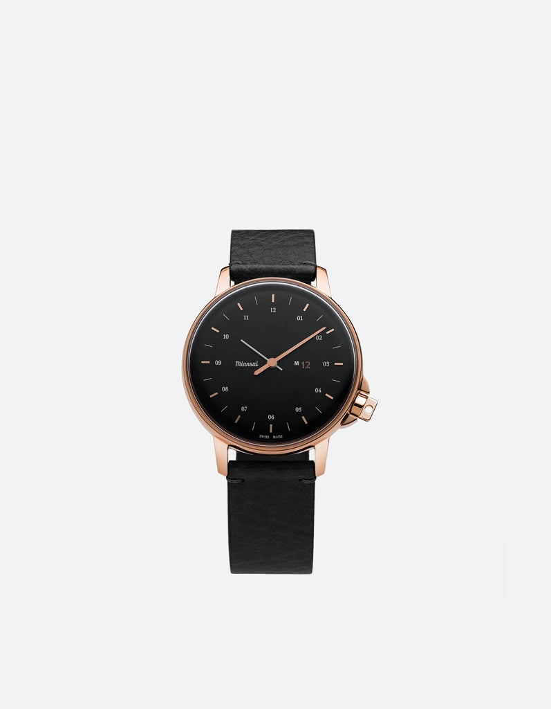 Miansai - M12 Swiss Rose|Black Asphalt Leather