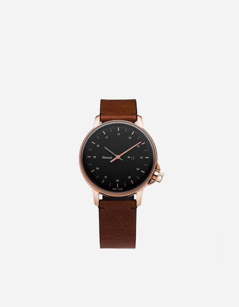 Miansai - M12 Swiss Rose|Black Cognac Leather