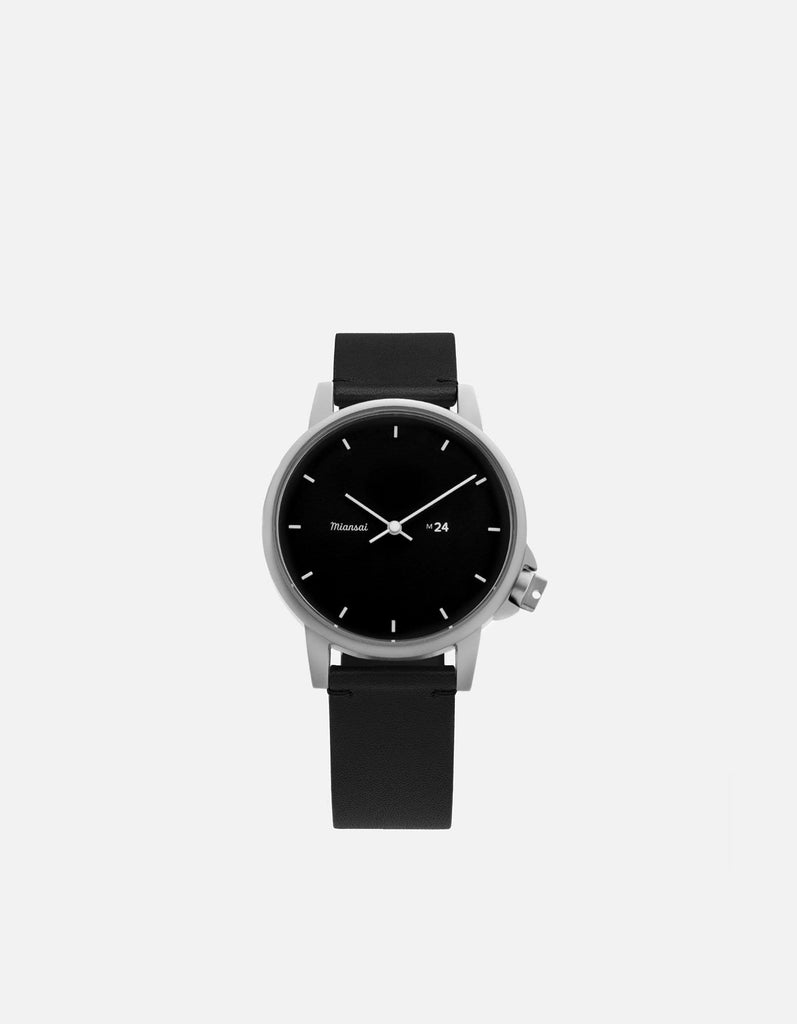 M24 II Watch Black on Leather, Black | Miansai