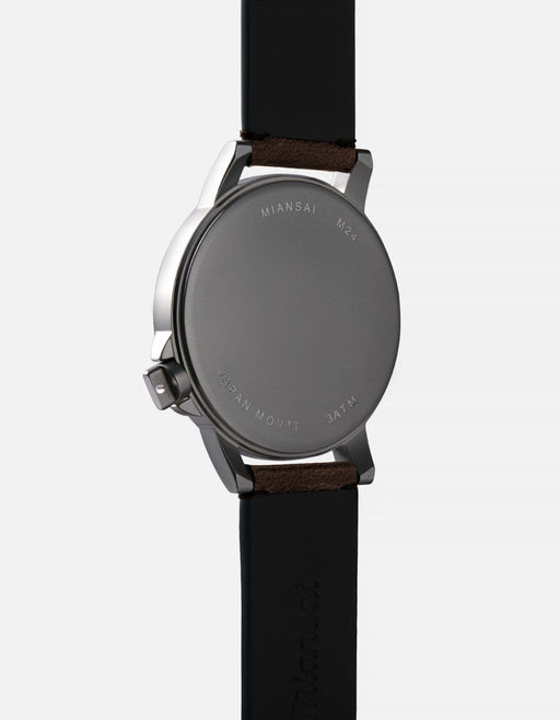 Miansai - M24 II Black Vintage Chocolate Leather
