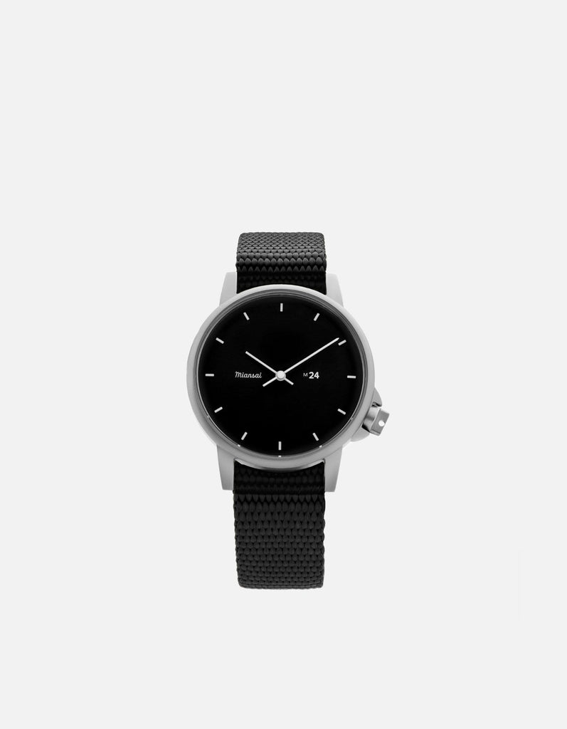 M24 II Watch Black on Nylon, Black | Miansai