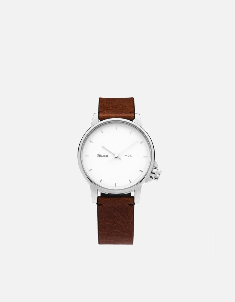 Miansai - M24 II White Vintage Cognac Leather