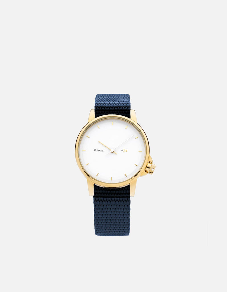 M24 II Watch Gold|White on Nylon, Navy Blue | Miansai