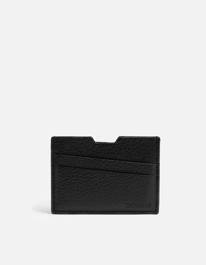 Modern Cardholder, Textured Black | Men's Wallets | Miansai