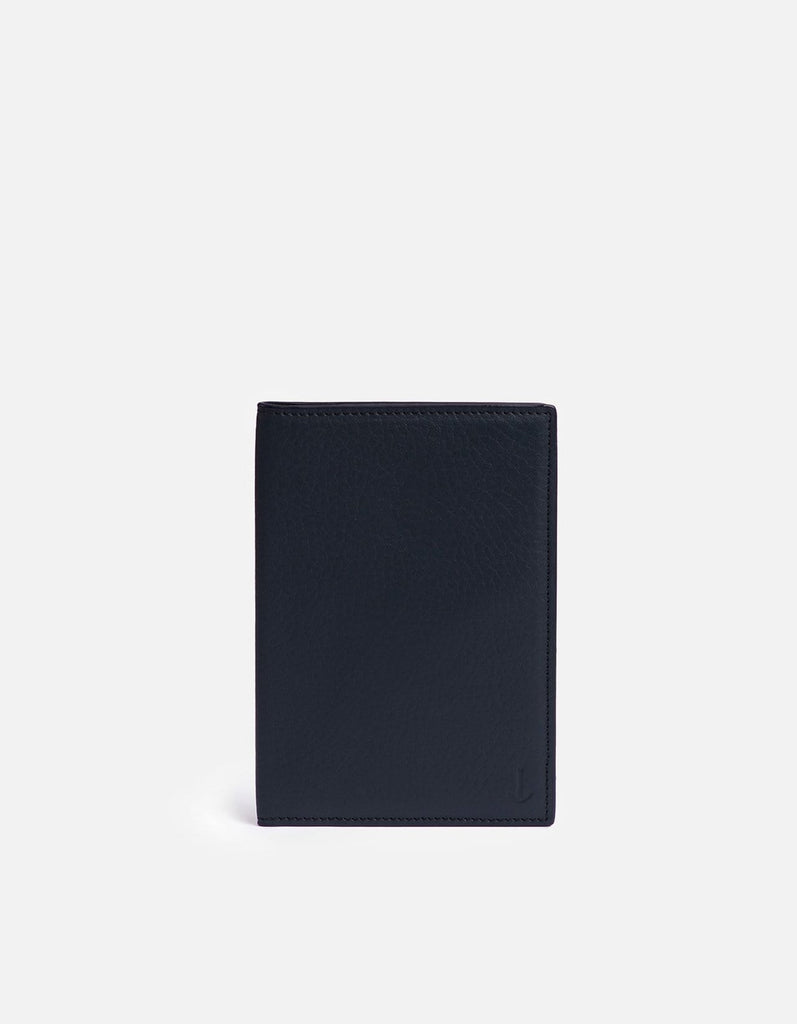 Modern Passport Wallet, Textured Navy | Small Leather Goods | Miansai