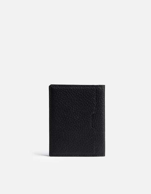 Vertical Wallet, Textured Black | Men's Small Leather Goods | Miansai