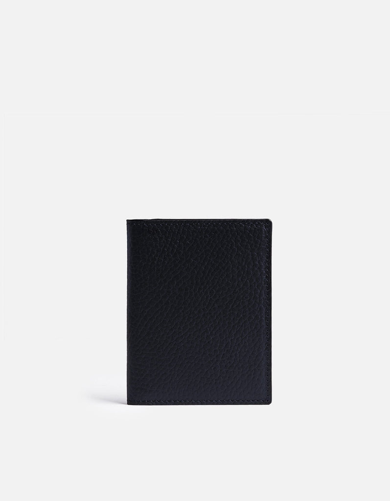 Vertical Wallet, Textured Navy | Men's Small Leather Goods | Miansai
