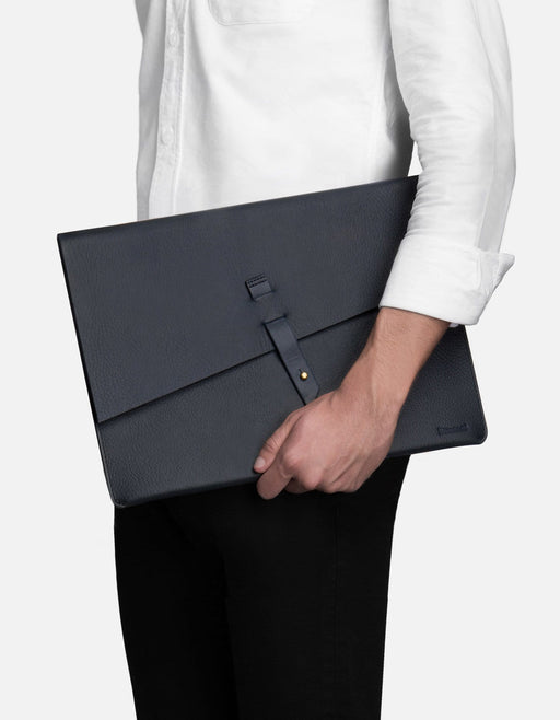 Portfolio, Textured Navy | Men's Small Leather Goods | Miansai
