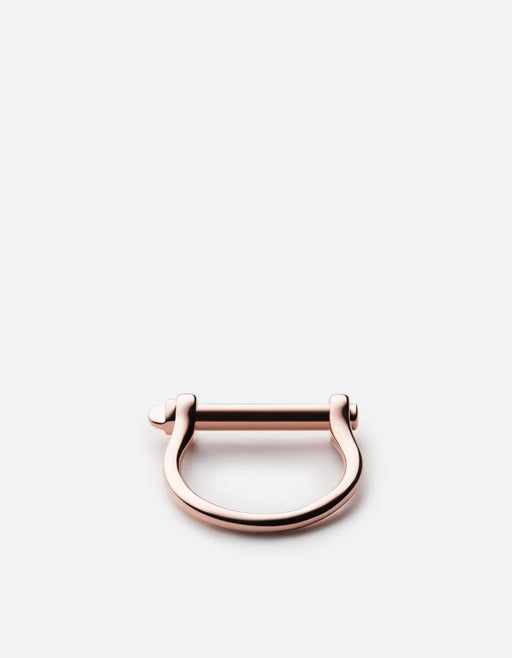Thin Screw Cuff Ring, Rose | Women's Rings | Miansai