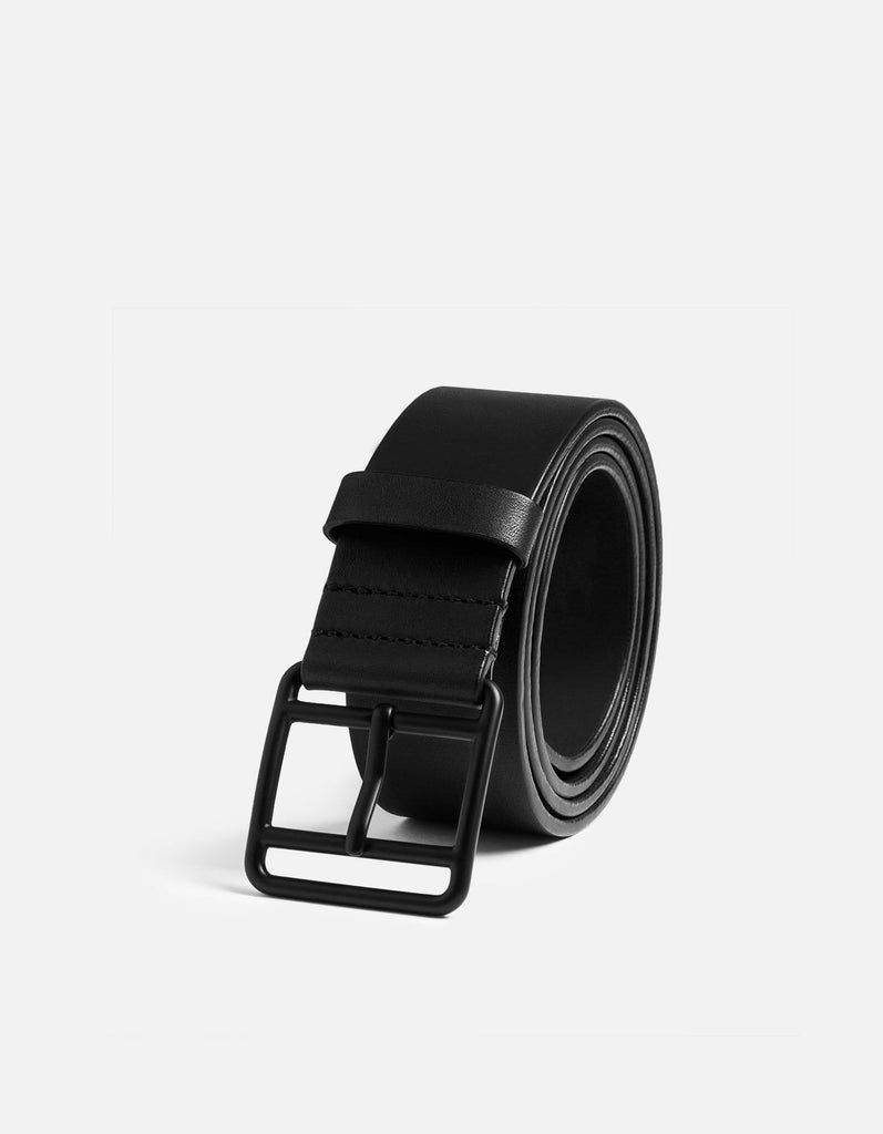 Miansai - Black Leather Belt, Noir Buckle