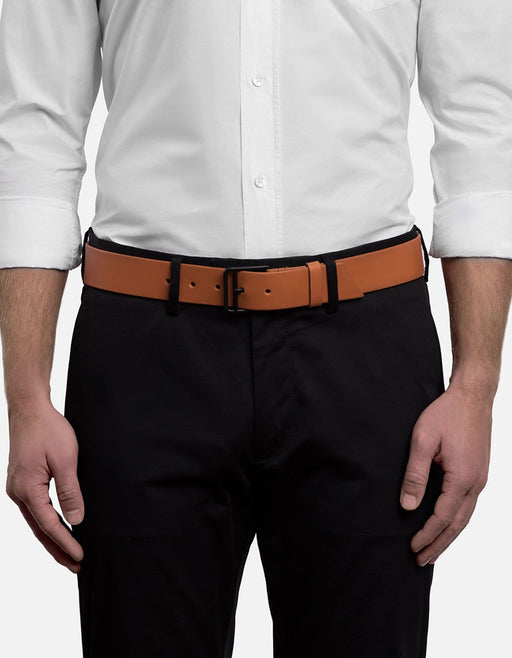 98c629fcc232e ... All Leather Khaki Belt, Noir Buckle | Men's Belts | Miansai ...