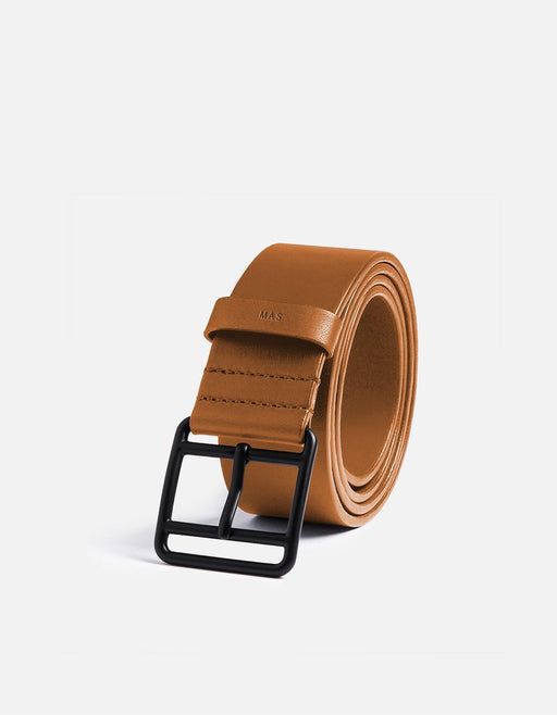 All Leather Khaki Belt, Noir Buckle | Men's Belts | Miansai