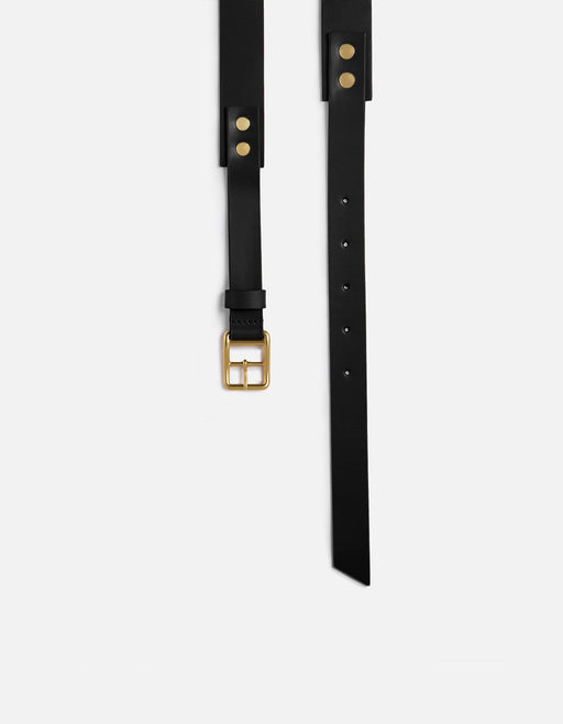 Skinny Belt, Black Leather | Men's Belts | Miansai