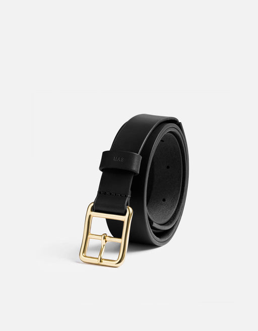 Miansai - Skinny Belt, Black Leather