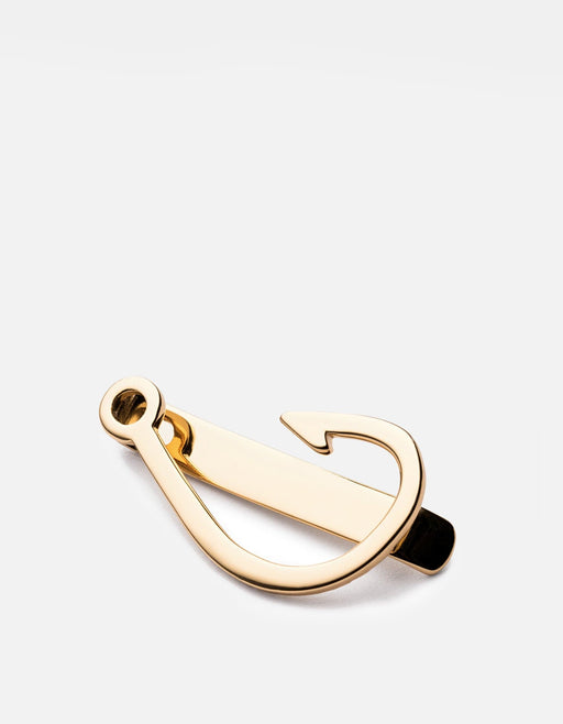 Miansai - Hooked Tie Bar, Gold Vermeil