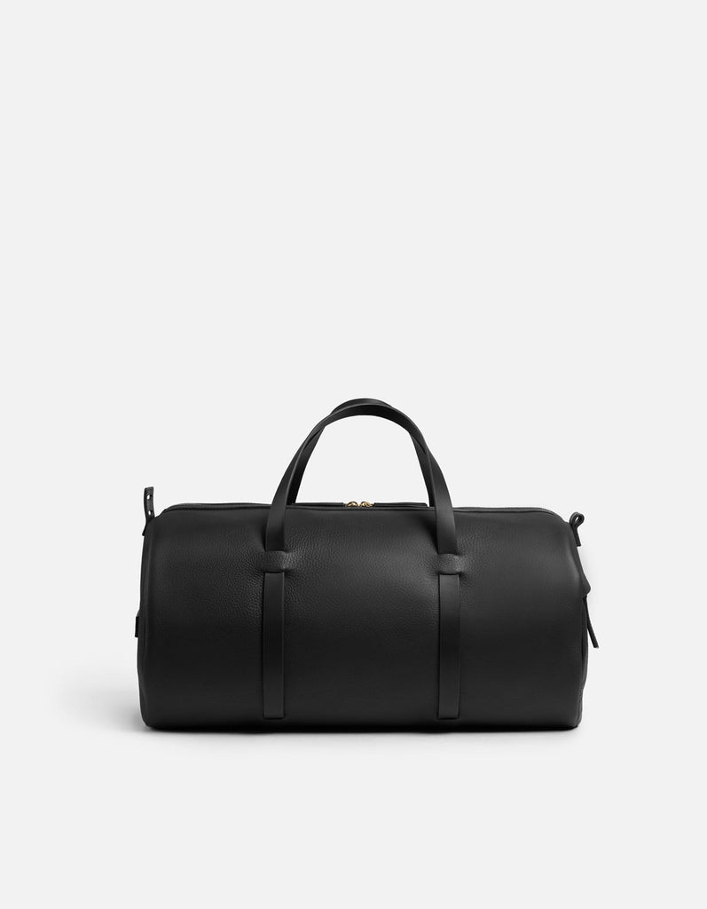 Duval Duffle, Black Textured | Men's Leather Bags | Miansai