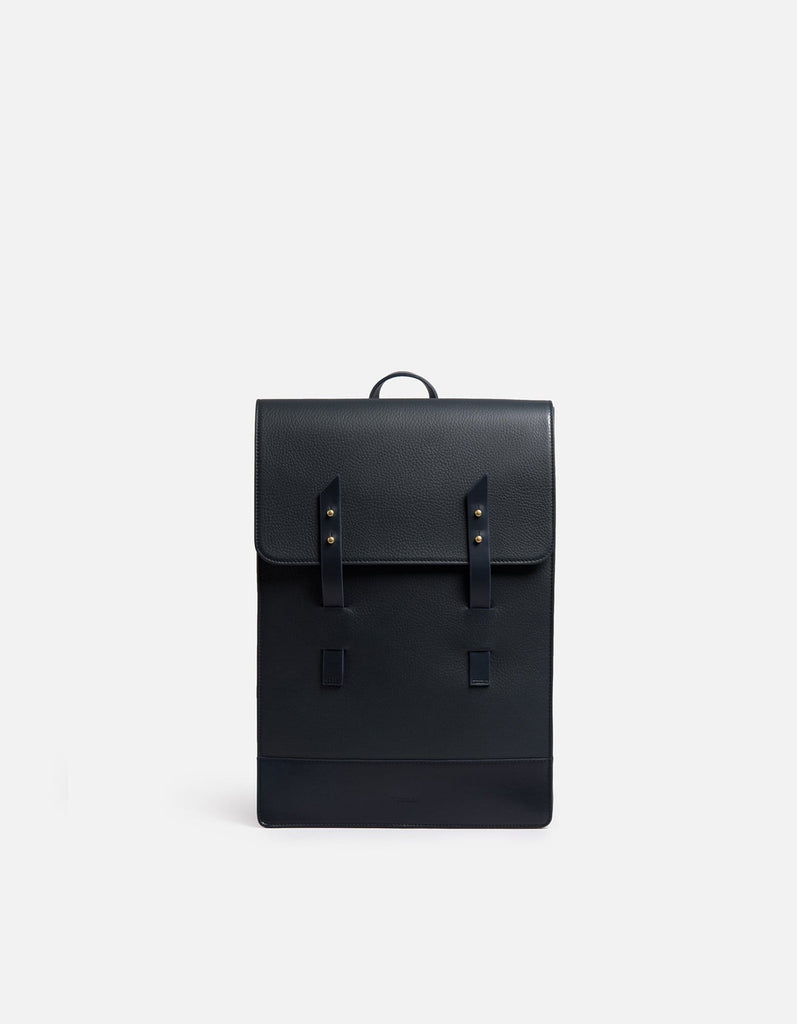 Harbour Rucksack, Textured Navy | Men's Leather Bags | Miansai