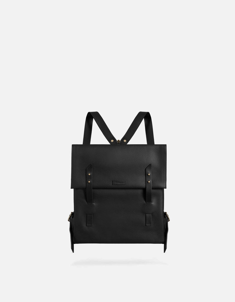 Santon Backpack, Textured Black | Men's Leather Bags | Miansai