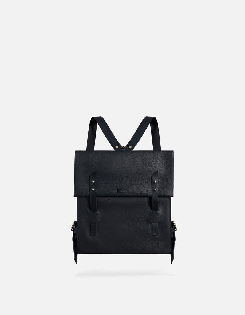 Santon Backpack, Textured Navy | Men's Leather Bags | Miansai