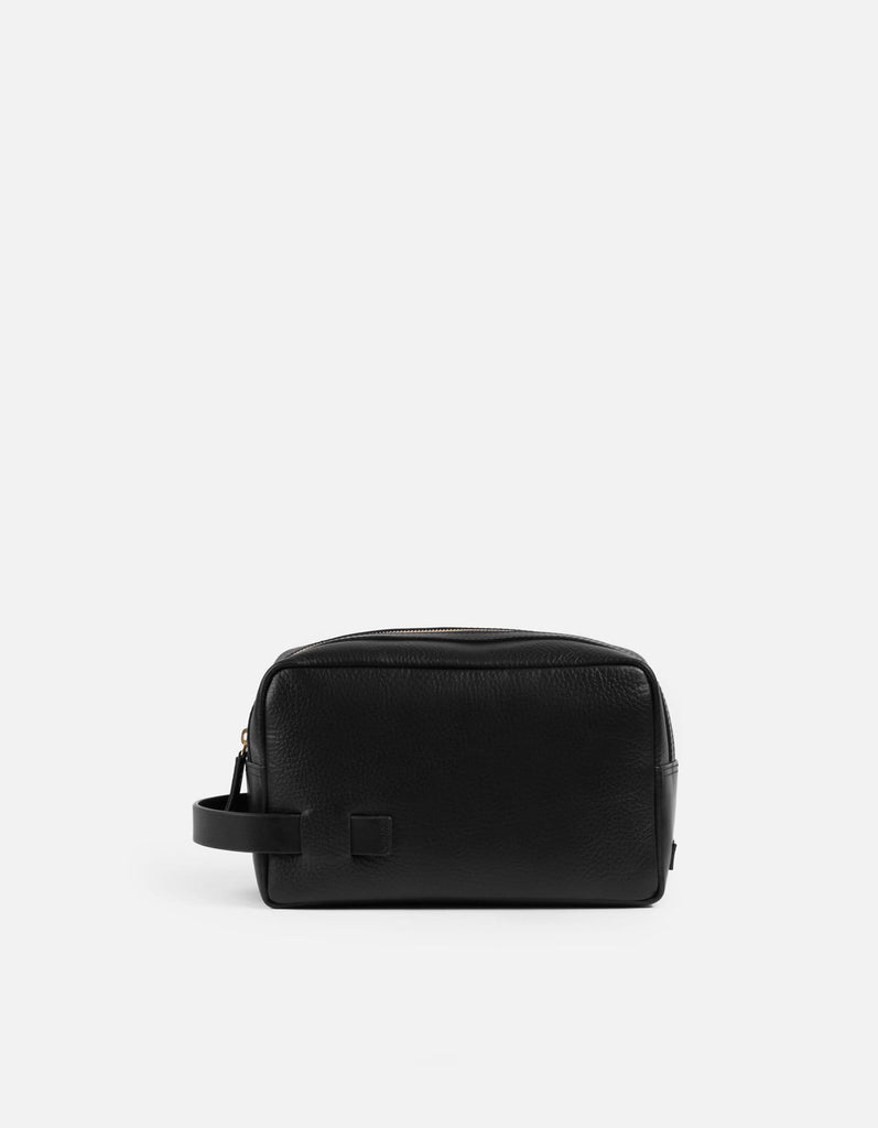 Lido Dopp Kit, Textured Black | Men's Leather Bags | Miansai