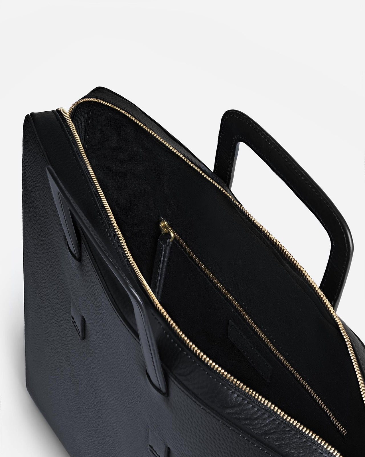 Very Slim Briefcase, Textured Navy Blue | Men's Leather Bags | Miansai OT76