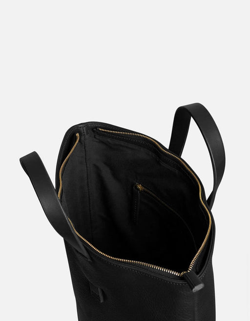 Slim Tote, Black Textured Leather | Women's Leather Bags | Miansai
