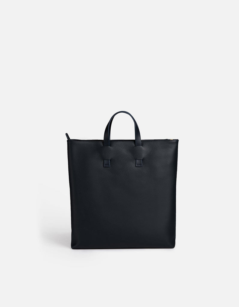Slim Tote, Navy Blue Textured Leather | Women's Leather Bags | Miansai