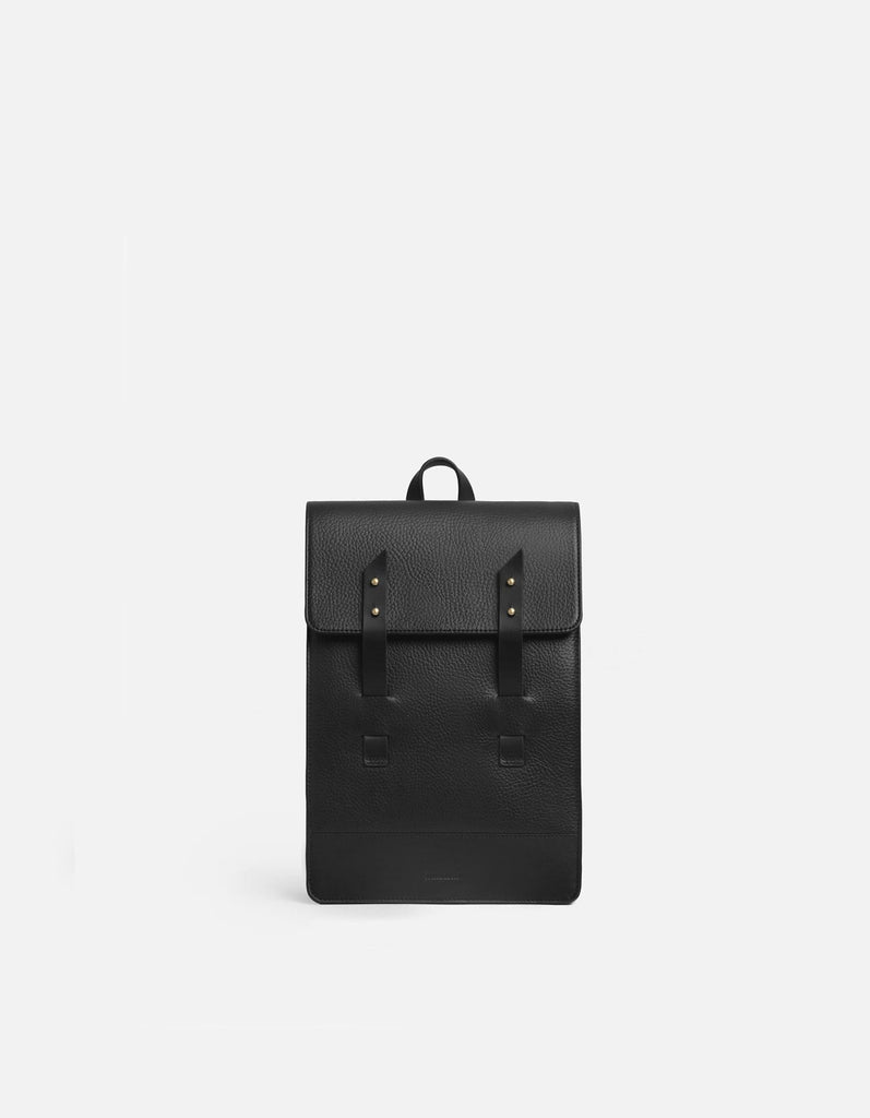 Mini Harbour Rucksack, Textured Black | Leather Bags | Miansai