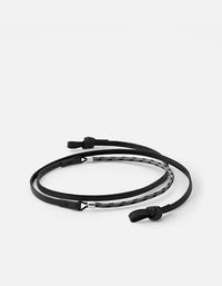 Miansai - Nexus Leather Sunglass Cord, Sterling Silver