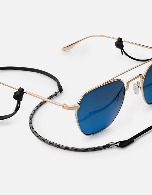 Nexus Leather Sunglass Safety, Sterling Silver | Dry Goods | Miansai