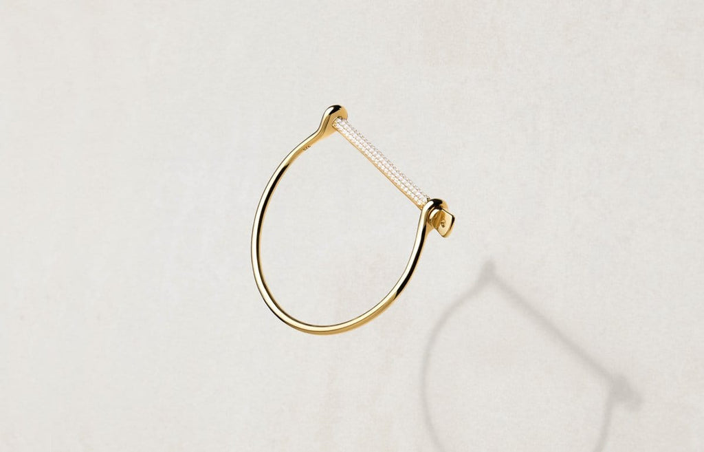 Shop Fine - Thin Screw Cuff Pavé
