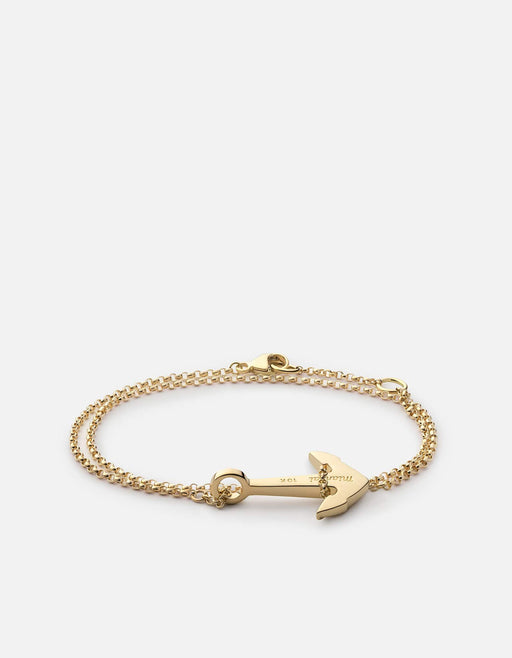 Mini Anchor Bracelet, 10k Gold | Women's Bracelets | Miansai