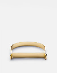Thin Hudson Cuff, 10K Solid Gold