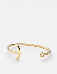 Thin Modern Anchor Cuff, 10K Solid Gold