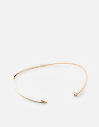 Thin Fish Hook Necklace, 10K Solid Gold