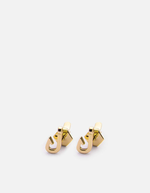 Miansai - Mini Hook Stud, 10k Solid Yellow Gold
