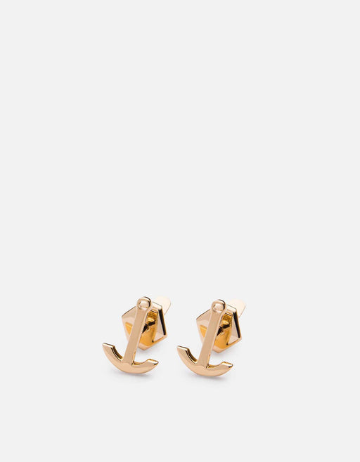 Miansai - Mini Anchor Stud, 10k Solid Yellow Gold